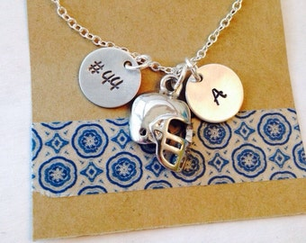 Football Necklace, Football Mom Necklace,  Personalized Football Necklace, Football Mom Jewelry, Football Mom, Football Number Necklace