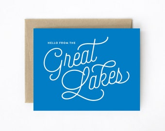 Greeting Card - Hello From The Great Lakes