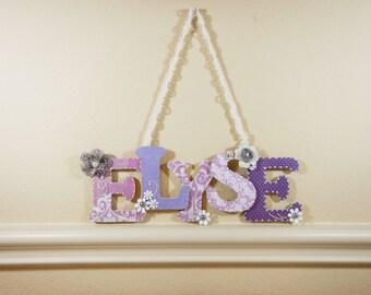 Baby Girl Nursery Decor, Custom Nursery Letters, Custom Wood Letters, Nursery Letters, Baby Room Decor, Children's Custom Nursery Decor