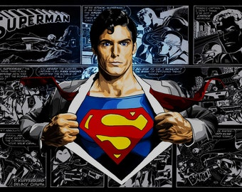 Superman, comic, poster