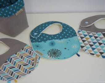 3 fabric baby bib 100% cotton Terry