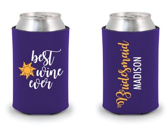 Best Wine Ever Can Cooler   Custom   Personalized Gift   Princess Rapunzel   Tangled   Disney Bachelorette   Walt Disney World   Flynn Rider