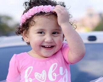 Baby floral crown - newborn floral crown - baby floral crown - toddler floral crown - wedding floral crown - pink floral crown - pink floral