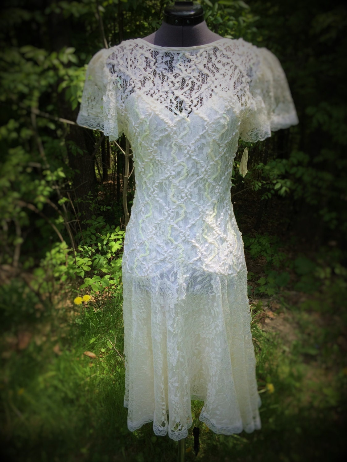Vintage art deco wedding dress boho wedding dress