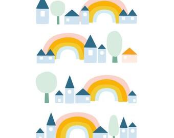 Rainbow postcard - Eco friendly
