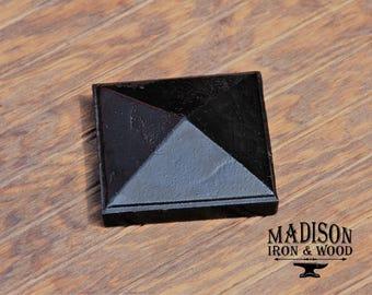 """Pyramid Post Cap for 3"""" True Post Size, Cast Iron Post Cap 3x3"""
