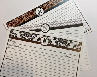 Clearance- 10 recipe cards Variety pack personalized with N 4x6