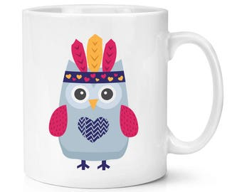 Festival Owl Head Dress 10oz Mug Cup