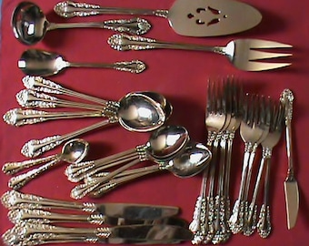Vintage Japan Stainless Gold plated Silverware 32 pieces