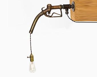 Vintage Gas Pump Nozzle Hanging Lamp
