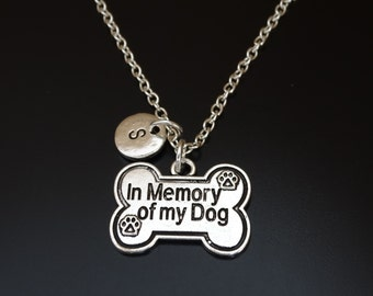 In Memory of My Dog Necklace, Dog Memorial Necklace, Dog Memorial Charm, Dog Memorial Pendant, Dog Memorial Jewelry, Dog Memorial Gift