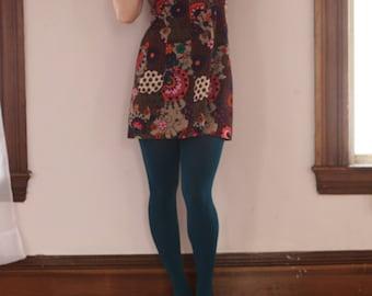 Psychedelic Groovy 60's 70's Flower Power Mini Dress