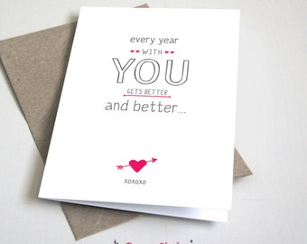 I love you with all of my boobs card anniversary