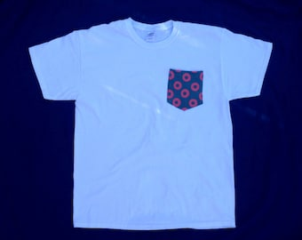 Men's Fishman Donut Pocket Tee in White - Mens Fishman Tshirt Fishman Shirt Phish / You Enjoy My Shirt