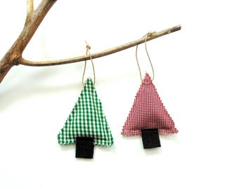 Balsam fir pine sachet set, Balsam Christmas decor, scented ornaments, Christmas ornament, hanging sachet ornament, Balsam fir scent