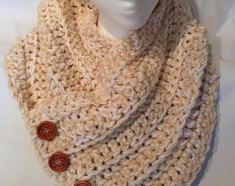Faux Button Cowl