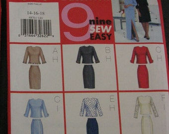 Fast & Easy Butterick 6870 Skirt Suit Pattern 9 views, sizes 14-16-18
