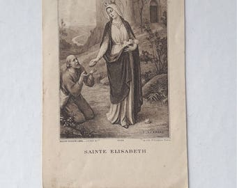 St Elizabeth Elisabeth Holy Card Religious Card Missal Bookmark