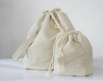 Set of 2 Knitting Project Bags. LARGE and MINI... Special KnitterBag design.