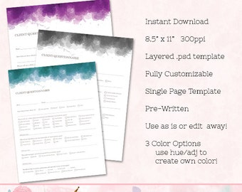 client contact information form