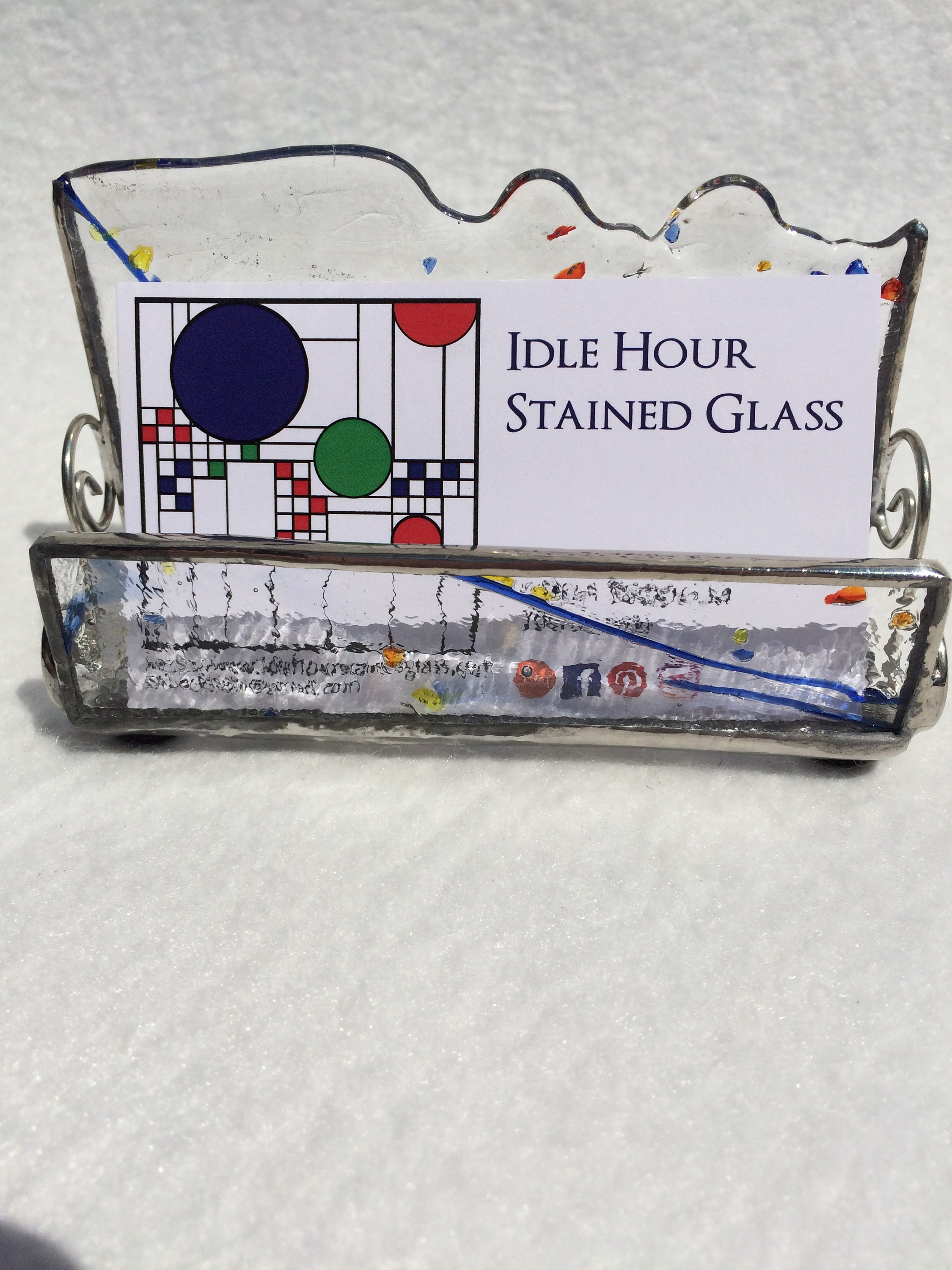 Stained Glass Business Card Holder Business Card Holder