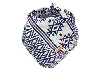 Personalized dog bandana, dog bandanas, dog bandana, boho dog bandana, tribal dog bandana, puppy bandana, boho, dog accessories: KLONDIKE