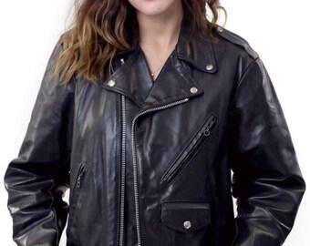 Biker Boy or Girl Leather Motorcycle Jacket