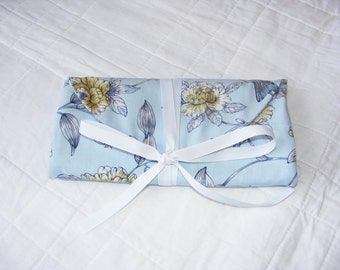 Travel organizer, travel jewelry roll, travel jewelry case, bridesmaid gift, bridal shower, organizer, jewelry case, jewelry holder