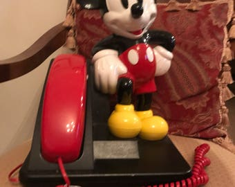 Vintage Mickey Mouse phone push button