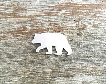 Mom bear blanks, Bear stamping blank, aluminum bear blank, custom cut stamping blanks, hand stamping Supplies, bear blank,Quanity 5