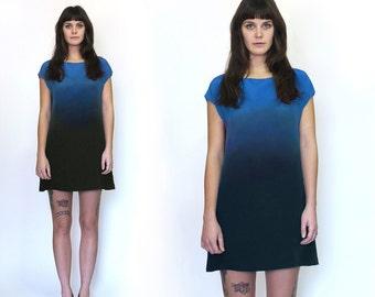 Ombre Silk Dress Ode to Rothko INDIGO
