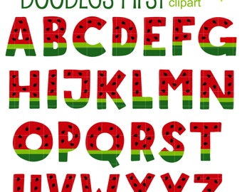 Watermelon Letters Alphabet for Scrapbooking Card Making Cupcake Toppers Paper Crafts