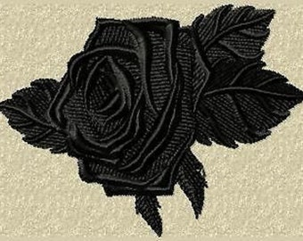 Black Rose (free choice of color) very noble patch/appliqué