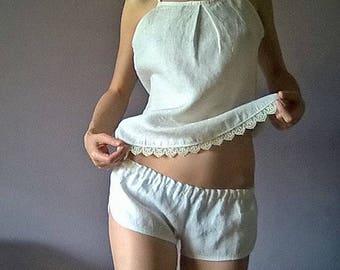 Linen pajama set /Linen Lingerie Set