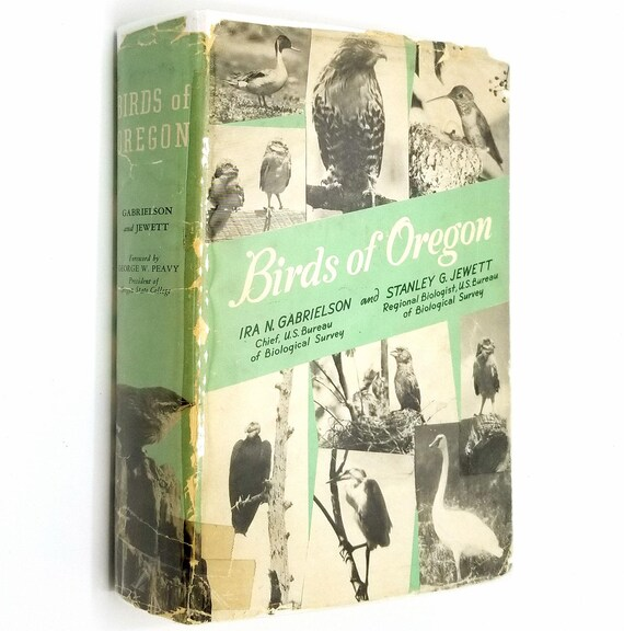 Birds of Oregon by Ira N. Gabrielson & Stanley G. Jewett 1940 1st Edition Hardcover HC w/ Dust Jacket DJ - Oregon State College (University)