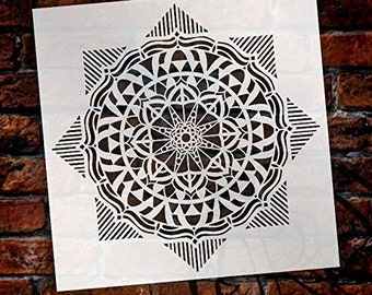 Mandala - Geometric - Complete Stencil by StudioR12   Reusable Mylar Template   Use to Paint Wood Signs - Pallets - Pillows - Wall Art -...