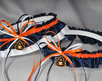 Auburn University Tigers Wedding Garter Set