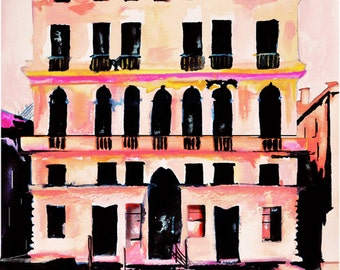 Prada Palazzo - Italian Landscape Art Print