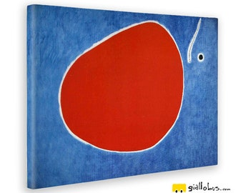 Abstract paintings-Joan Mirò-The Flight of the Dragonfly in Front of the Sun-yellow BUS