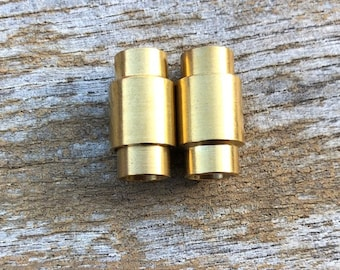 Brass Magnetic Clasp 2 Clasps 6.5mm Hole Size Raw Brass Magnetic Clasps MC-23