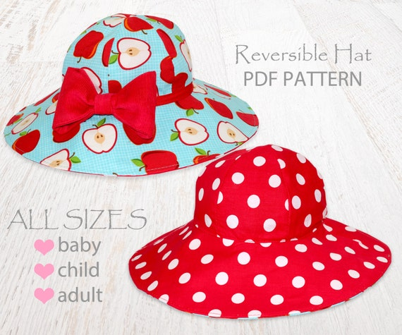 Hat sewing pattern, girls sewing pattern pdf, childrens sewing ...