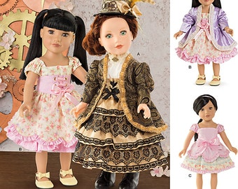 """Simplicity Pattern 8112 Doll Clothes for 18"""" Doll"""