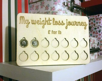 Weight Loss Reward Chart Tracker - Pound for lb - 1-5 Stone