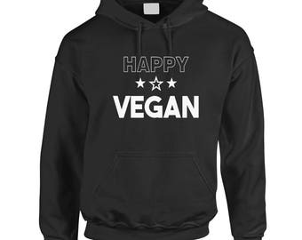 Happy Vegan, Hoodie Hooded Top
