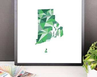 RHODE ISLAND State Pattern Map Print, Rhode Island Poster, Rhode Island Wall Art, Rhode Island Art, Rhode Island Gift, Rhode Island Decor