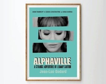 Art Prints, posters, film posters, godard poster, ana karina poster