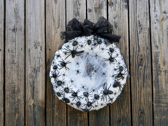 Halloween Wreath, Spider Wreath, Ready to Ship