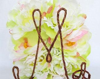 INITIAL Rustic Wedding Cake Topper, Monogram Cake Topper, Name Wedding Cake Topper, Rustic Wedding Decoration, Rustic Wedding Centerpiece