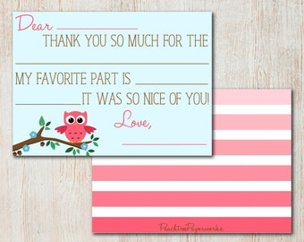 Fill-in-the-blank Thank You Notes