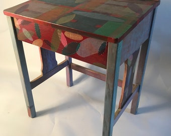 Original Carlysle Vicente Hand-Painted Writing Desk